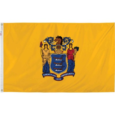 Valley Forge 3 Ft. x 5 Ft. Nylon New Jersey State Flag