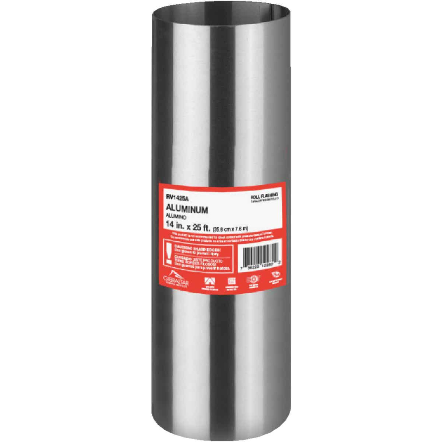 NorWesco 14 In. x 25 Ft. Mill Aluminum Roll Valley Flashing Image 1