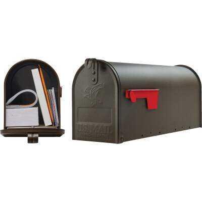 Gibraltar Elite T1 Bronze Steel Rural Post Mount Mailbox