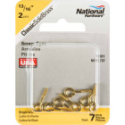 National #214 Brass Small Screw Eye (7 Ct.) Image 2