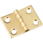 National 3/4 In. x 1 In. Brass Medium Decorative Hinge (2-Pack) Image 1