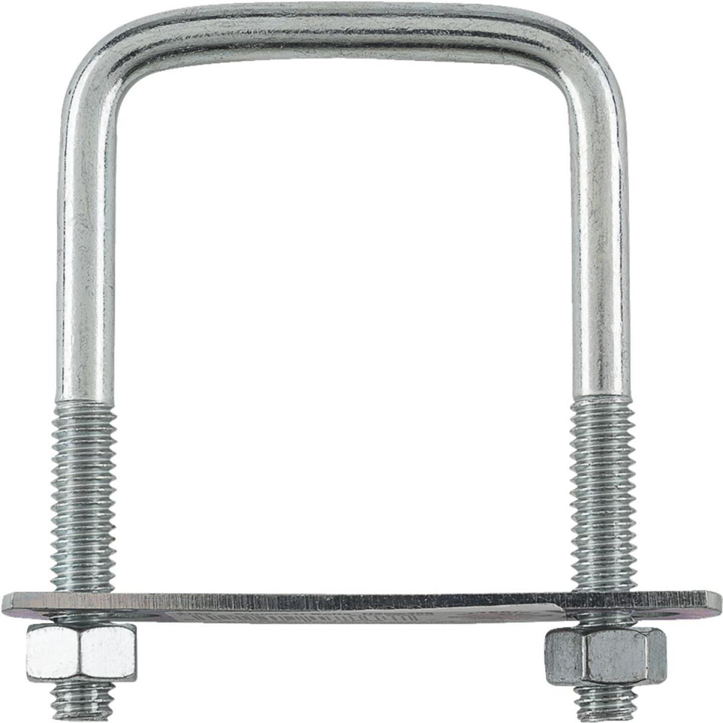 National 5/16 In. x 2 In. x 3 In. Zinc Square U Bolt Image 2