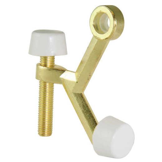 Ultra Hardware 3 In. Polished Brass Hinge Pin Door Stop