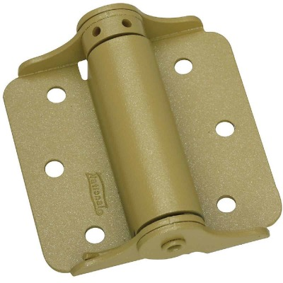 National 3 In. BakEnamel Brass Full-Surface Spring Door Hinge (2-Pack)