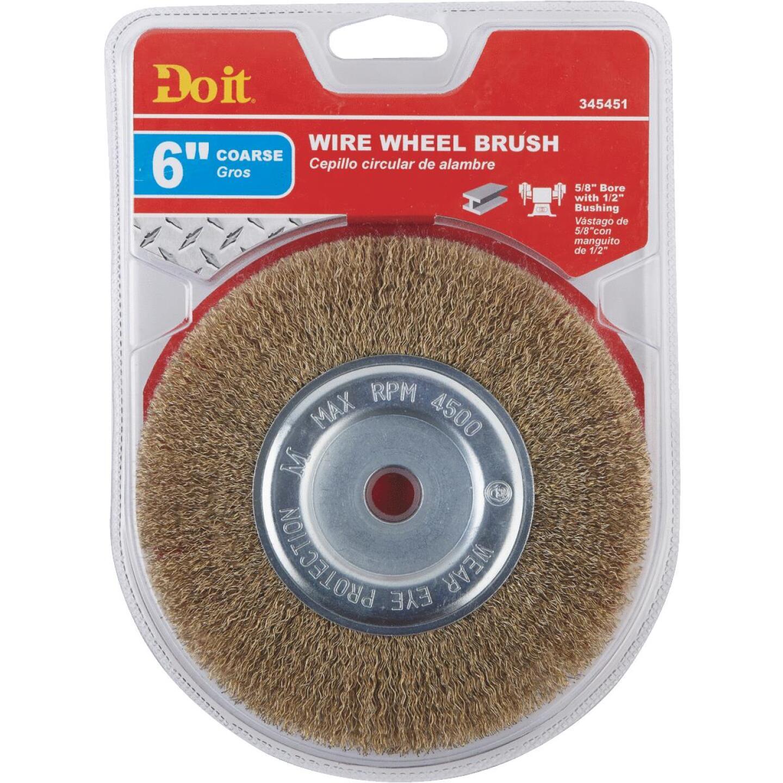 Do it 6 In. Coarse Bench Grinder Wire Wheel Image 2