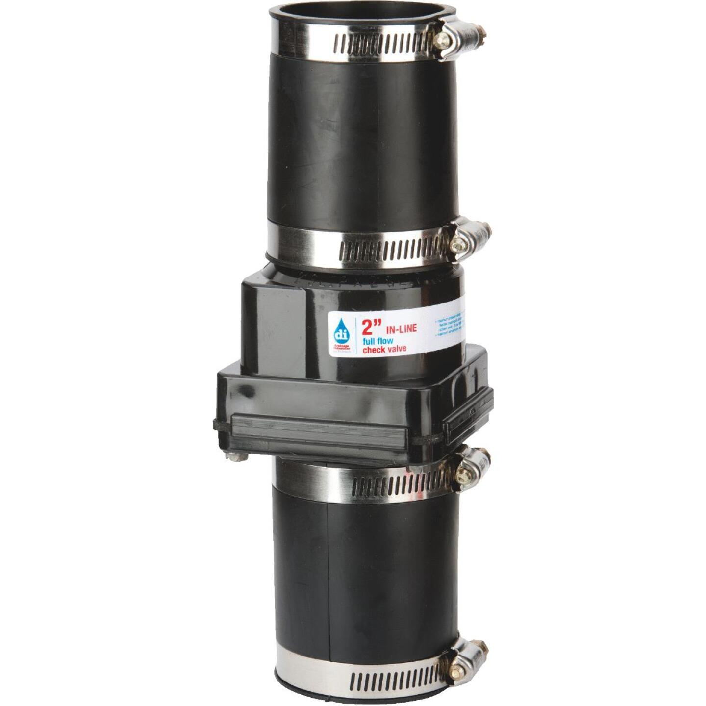 Drainage Industries 2 In. ABS Thermoplastic In-Line Sump Pump Check Valve Image 1