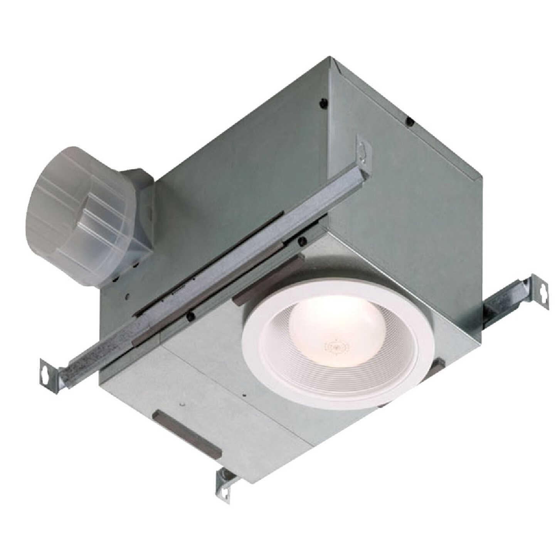Broan 70 CFM 1.5 Sones 120V Bath Exhaust Fan with Recessed Light Image 1