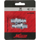 Milton 1/4 In. NPT H-Style Male Steel-Plated Plug Image 2