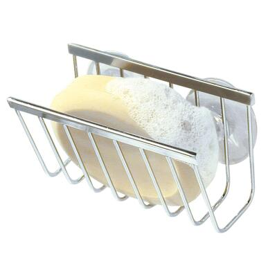 InterDesign Sinkworks Suction Soap & Sponge Holder