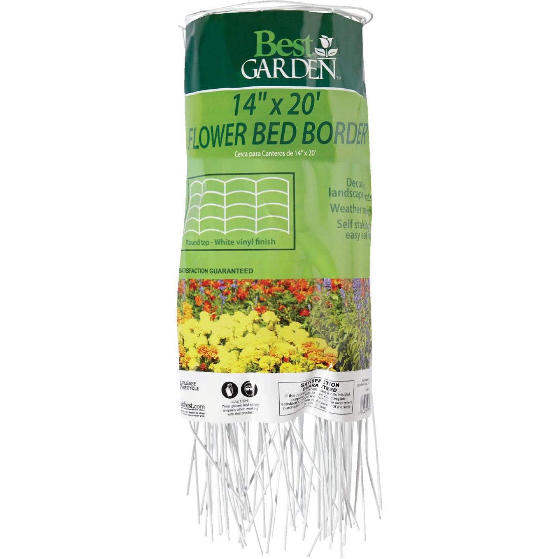 Best Garden 14 In. H x 20 Ft. L Steel Decorative Border Fence Image 1