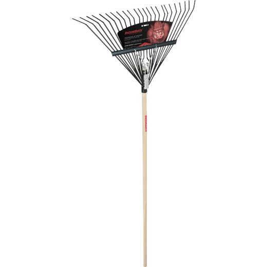 Razor-Back 24 In. Wood Handle Steel Leaf Rake (24-Tine)