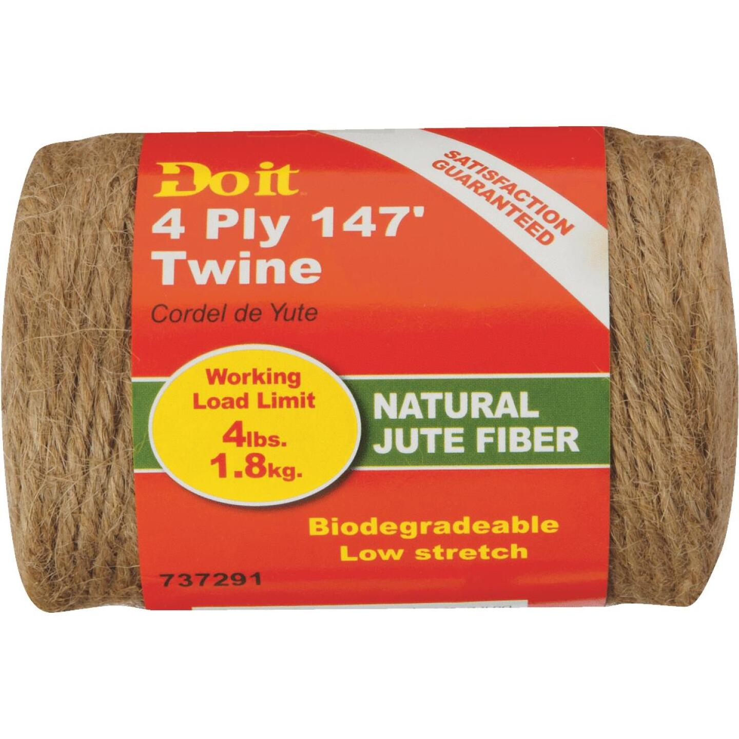 Do it 4-Ply x 147 Ft. Brown Jute Biodegradable Twine Image 2