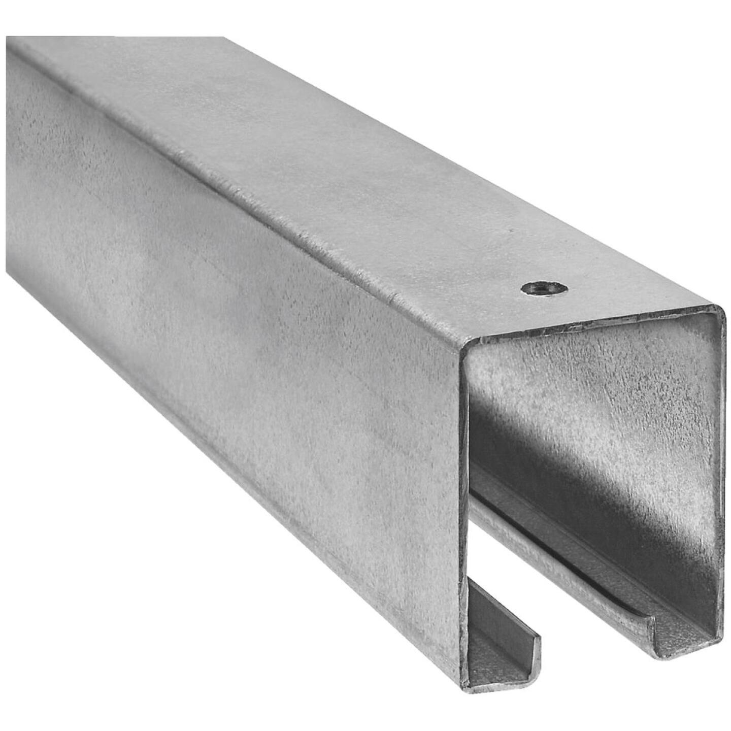 National 12 Ft. Galvanized Box Rail Barn Door Rail Image 1