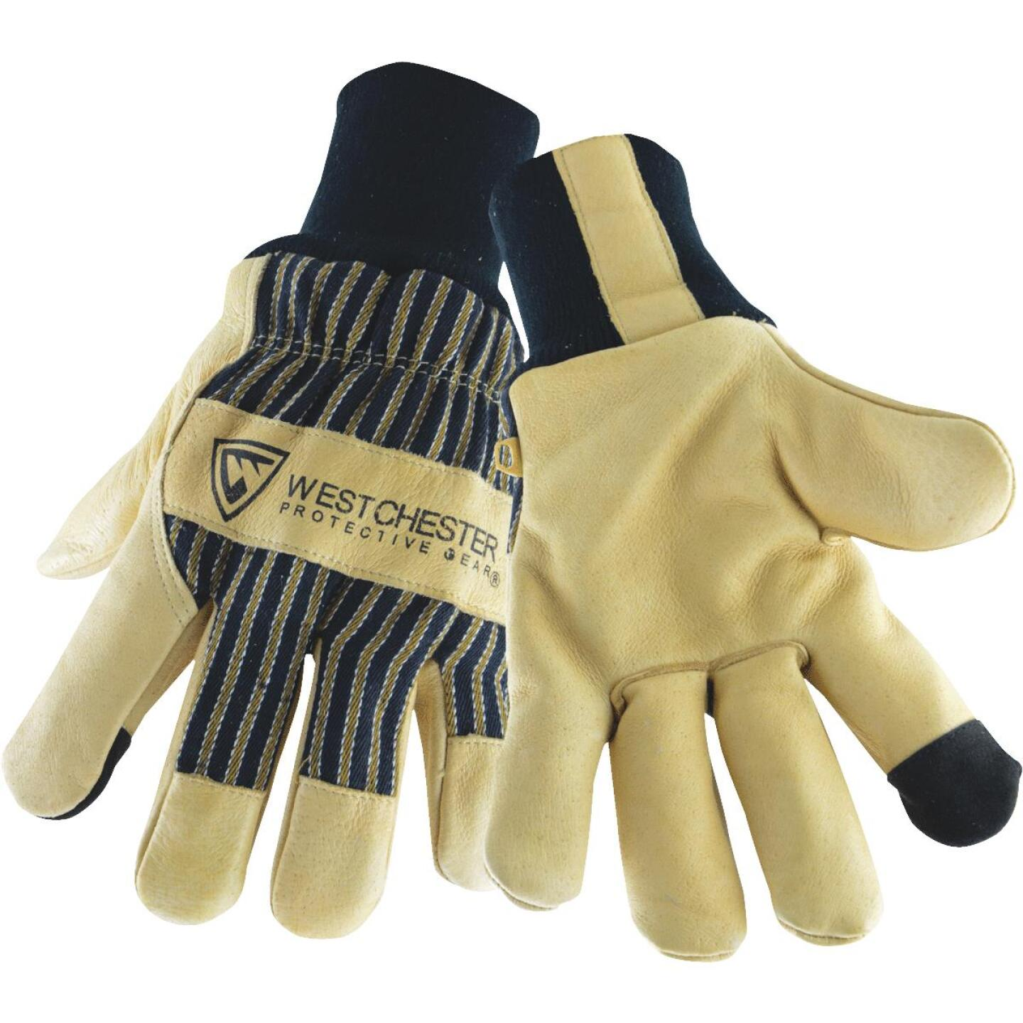 West Chester Men's Large Pigskin Leather Winter Glove with Knit Wrist Image 1