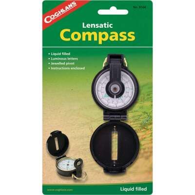 Coleman 4.72 In. Plastic Lensatic Compass